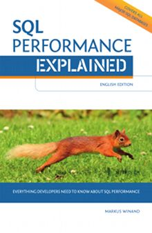 "Cover of ""SQL Performance Explained"": Squirrel running on grass"